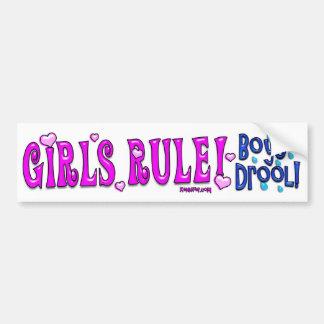 ¡Regla de los chicas! ¡Drool de los muchachos! Peg Pegatina Para Auto