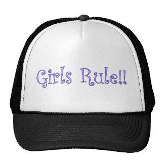¡Regla de los chicas! Gorros Bordados