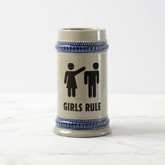 Regla de los chicas jarra de cerveza