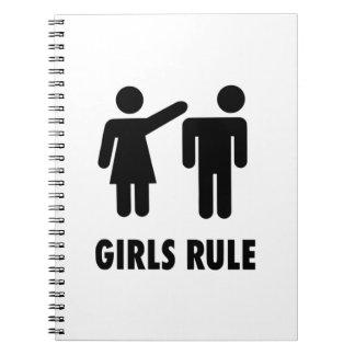 Regla de los chicas cuaderno