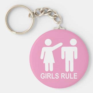 Regla de los chicas llavero redondo tipo pin