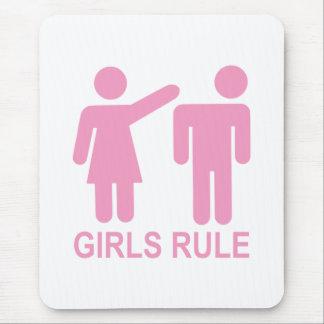 Regla de los chicas mouse pads