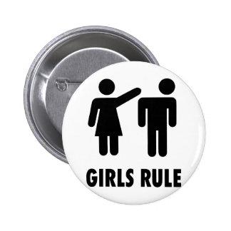 Regla de los chicas pin redondo de 2 pulgadas