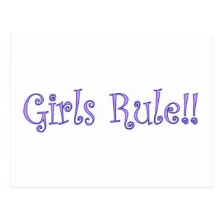 ¡Regla de los chicas! Postal