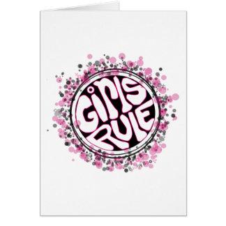 Regla de los chicas tarjeta de felicitación