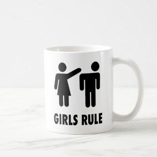 Regla de los chicas taza de café