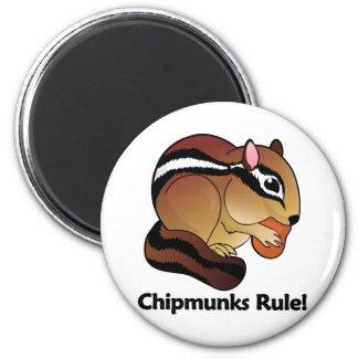 ¡Regla de los Chipmunks! Imán Redondo 5 Cm