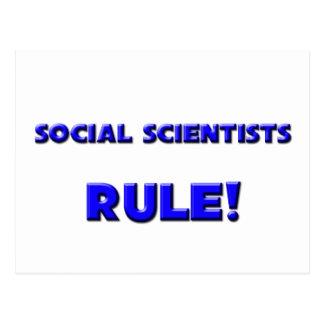 ¡Regla de los científicos sociales! Postal