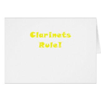 Regla de los Clarinets Tarjeta De Felicitación