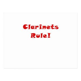 Regla de los Clarinets Tarjetas Postales