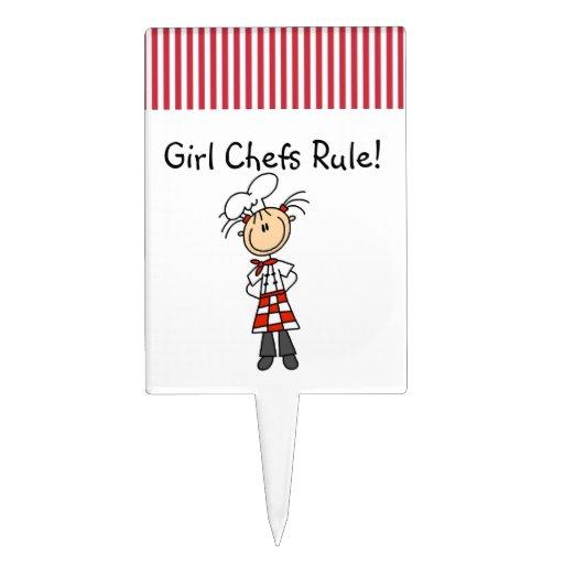 Regla de los cocineros del chica figuras para tartas