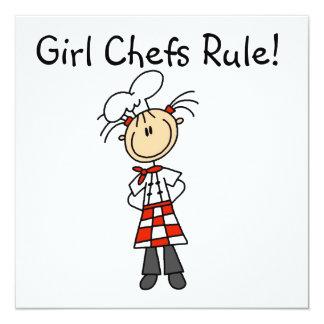 """Regla de los cocineros del chica invitación 5.25"""" x 5.25"""""""