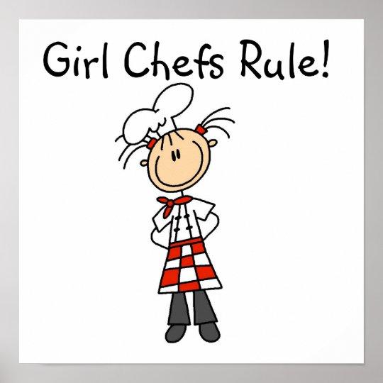 Regla de los cocineros del chica póster