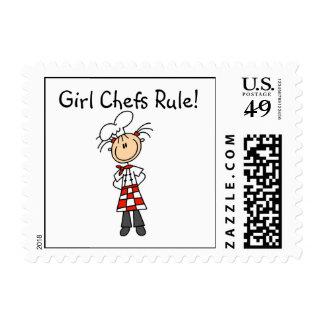 Regla de los cocineros del chica sello postal