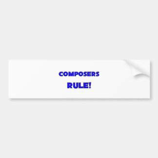 ¡Regla de los compositores! Etiqueta De Parachoque