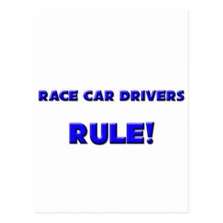 ¡Regla de los conductores de coche de carreras Tarjeta Postal