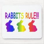 Regla de los conejos tapetes de raton