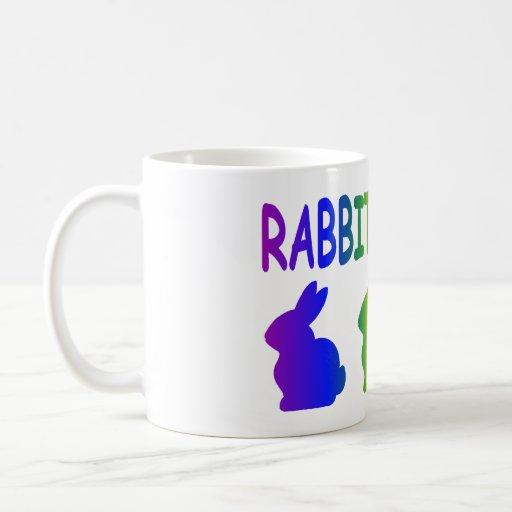 Regla de los conejos taza básica blanca