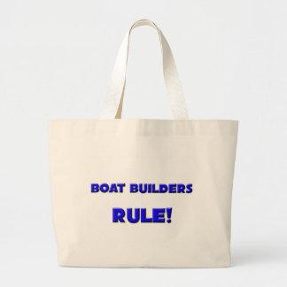 ¡Regla de los constructores del barco! Bolsa Tela Grande