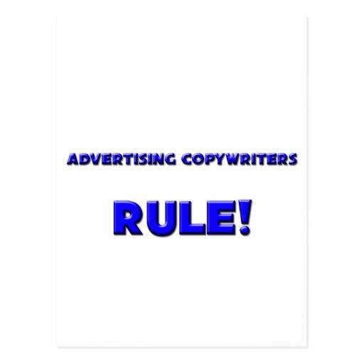 ¡Regla de los Copywriters de la publicidad! Postal