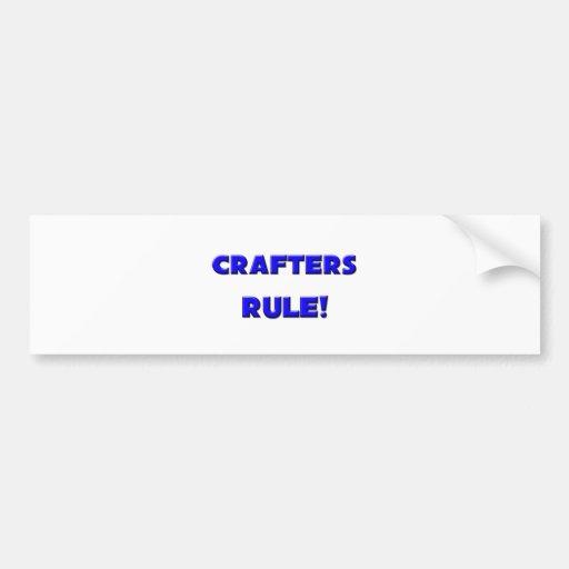 ¡Regla de los Crafters! Pegatina Para Auto