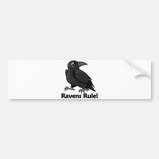 ¡Regla de los cuervos! Pegatina Para Auto