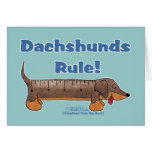 Regla de los Dachshunds Felicitación
