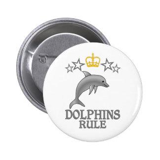 Regla de los delfínes pin redondo de 2 pulgadas