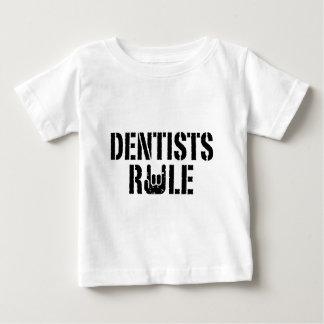 Regla de los dentistas playera de bebé