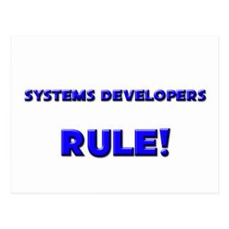 ¡Regla de los desarrolladores de los sistemas! Tarjetas Postales