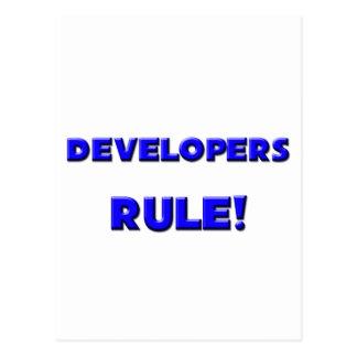 ¡Regla de los desarrolladores! Tarjeta Postal