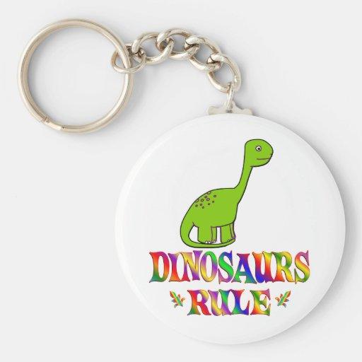 Regla de los dinosaurios llavero redondo tipo pin