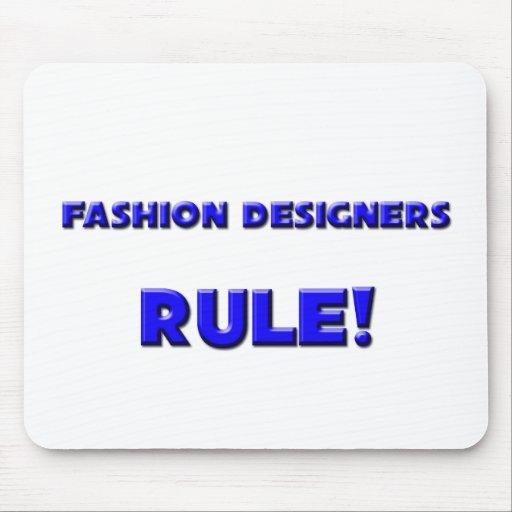 ¡Regla de los diseñadores de moda! Tapetes De Ratón