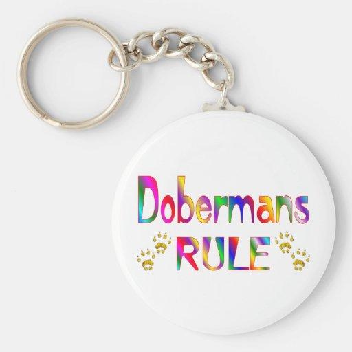 Regla de los Dobermans Llaveros Personalizados