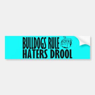 Regla de los dogos etiqueta de parachoque