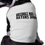 Regla de los dogos camisetas mascota