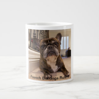 Regla de los dogos franceses taza jumbo