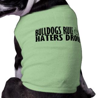 Regla de los dogos playera sin mangas para perro
