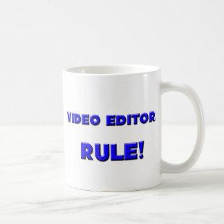 ¡Regla de los editores de vídeo! Taza De Café