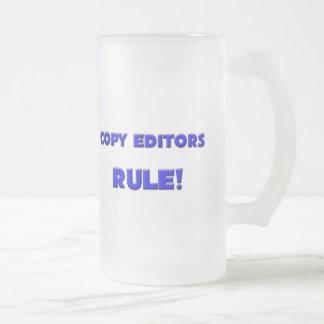 ¡Regla de los editores! Taza Cristal Mate