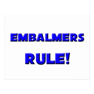 ¡Regla de los Embalmers! Postales