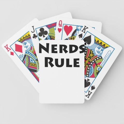 Regla de los empollones cartas de juego
