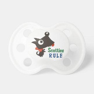 Regla de los escoceses chupetes de bebe