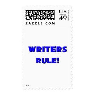 ¡Regla de los escritores! Sello