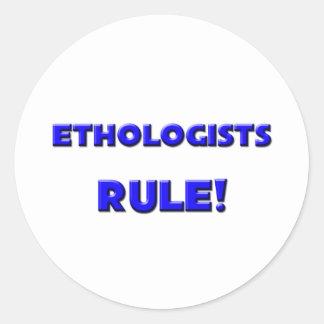 ¡Regla de los etólogos! Etiqueta Redonda