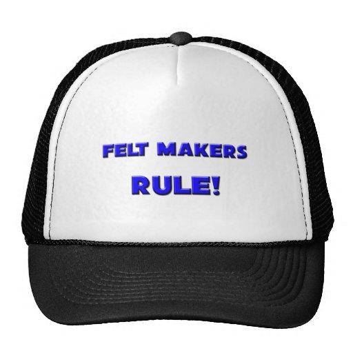 ¡Regla de los fabricantes del fieltro! Gorra