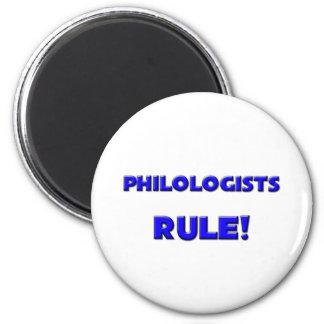¡Regla de los filólogos! Imanes De Nevera
