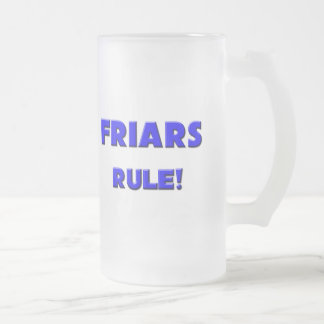 ¡Regla de los frailes! Taza Cristal Mate
