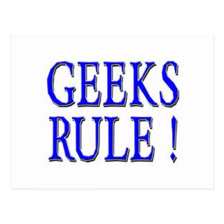 ¡Regla de los frikis Azul Postales