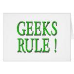 ¡Regla de los frikis!  Verde Felicitaciones